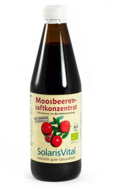 Bio-Moosbeerensaft Konzentrat 330 ml Solaris Vital